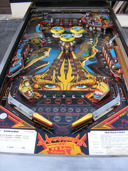 Barracora Pinball For Sale Refurbished Restored