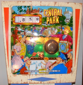Central Park pinball for sale