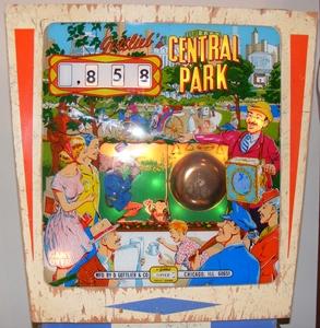 Central Park Pinball backglass
