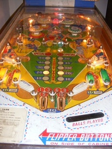 close of lower playfield