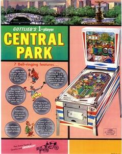 Central Park pinball flyer