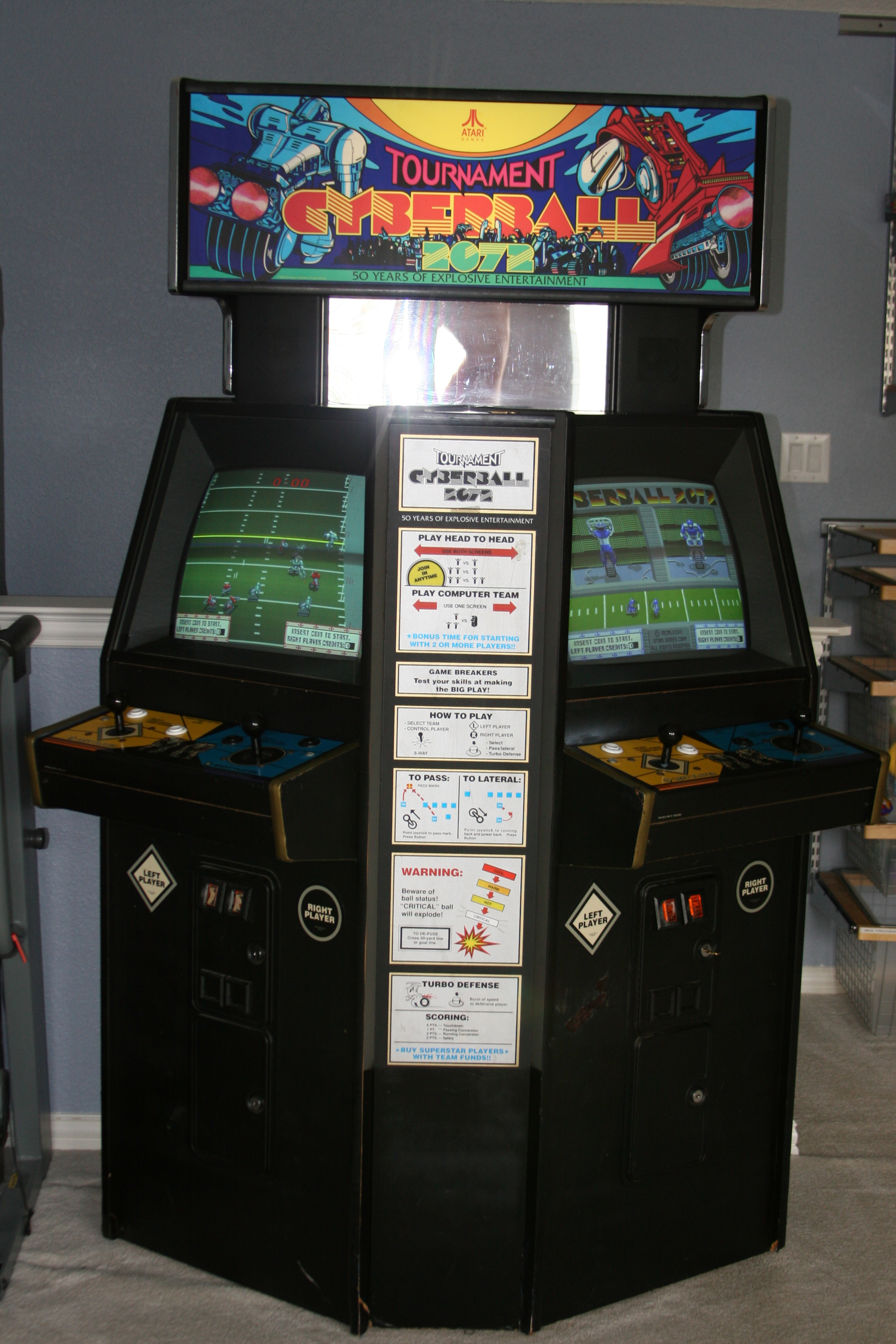 Tournament Cyberball 2072 arcade game for sale