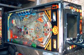 Cyclone pinball playfield