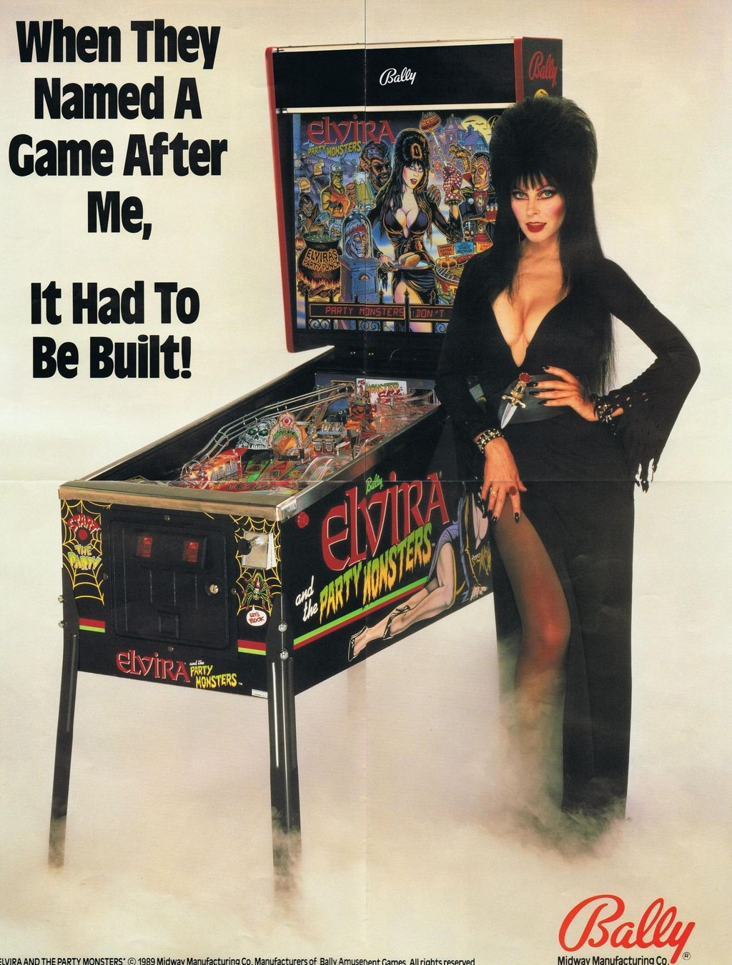 ELVIRA AND THE PARTY MONSTERS BALLY PINBALL GAME For Sale in Austin ...