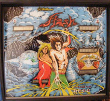 Flash pinball for sale backglass