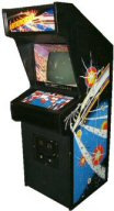 Full sized arcade game cabinet