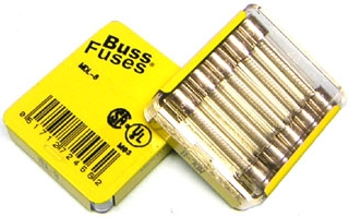 1.25 inch long glass fuses