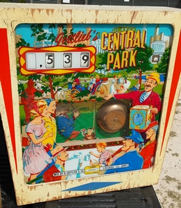 central park pinball backbox for sale