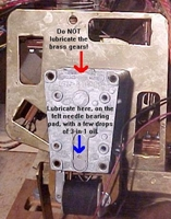 Pinball Score Motor oiling felt hole